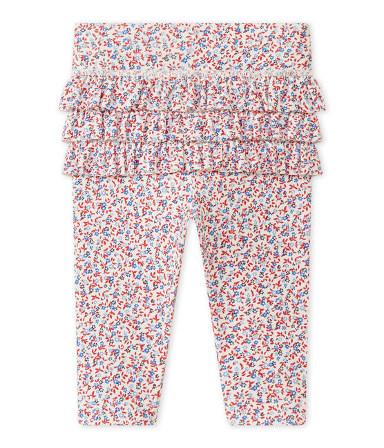 Baby girl's print leggings Marshmallow white / Terkuit red
