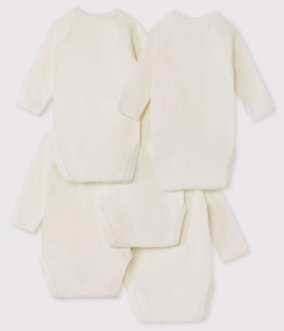 Babies' Rabbit Pattern Long-Sleeved Bodysuit - 5-Pack . set