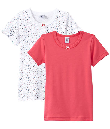 Set of 2 girls' short-sleeved t-shirts