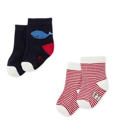 Set of 2 pairs of baby boy's socks