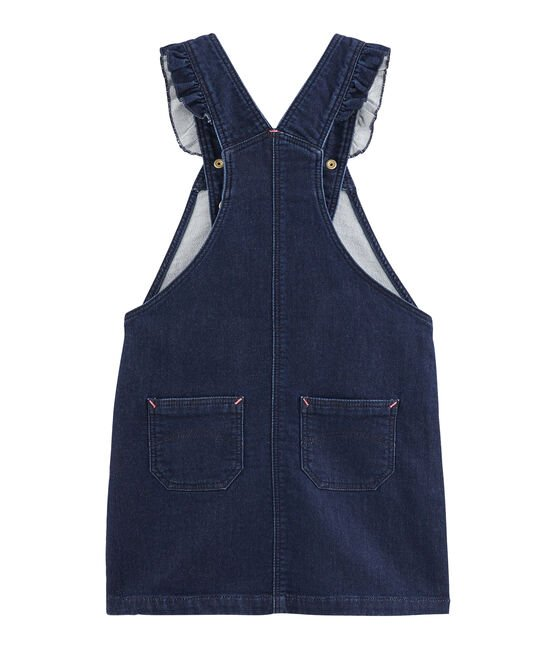Girls' Dungaree Dress Denim Bleu Fonce blue