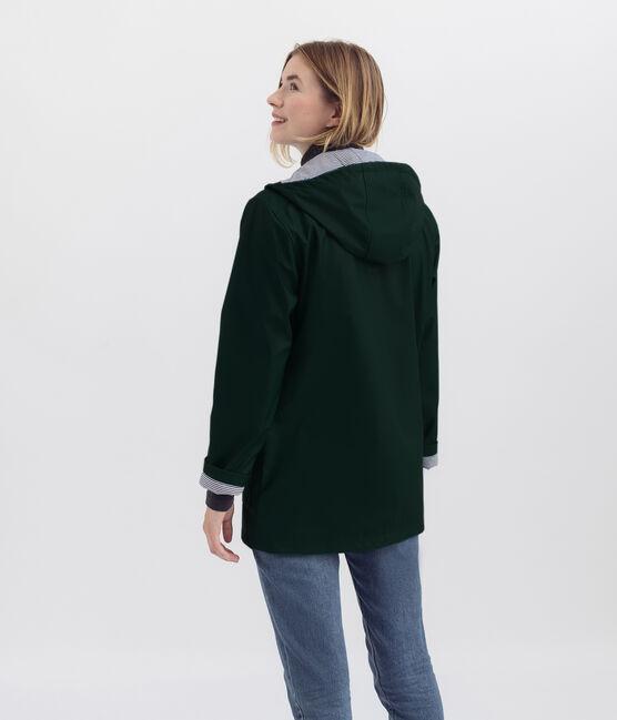 iconic mixed raincoat Sherwood green