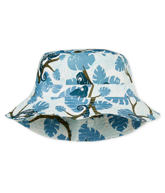 Baby boys' printed sun hat Marshmallow white / Multico white
