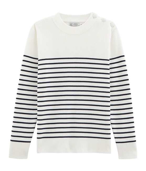 Men's Sailor Pullover Marshmallow white / Smoking blue