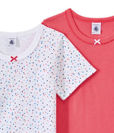 Set of 2 girls' short-sleeved t-shirts . set