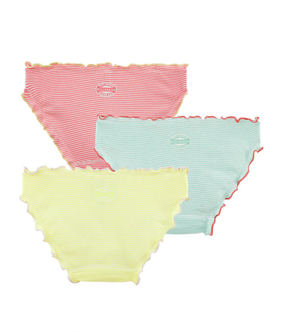 Girls' Ruffled Knickers - 3-Piece Set . set