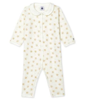 Baby Girls' Footless Sleepsuit Marshmallow white / Or yellow