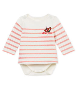 Baby girls' stripy breton bodysuit