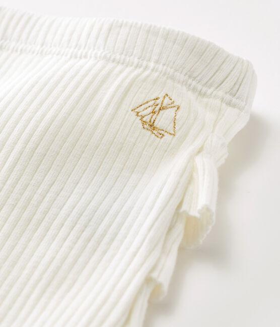 Baby Girls' Ruffled Leggings Marshmallow white