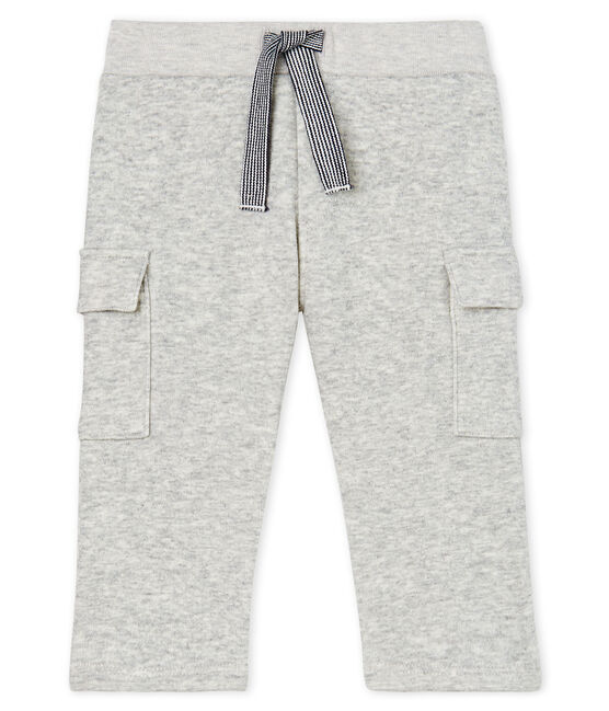 Baby Boys' Velour Knit Trousers Beluga grey