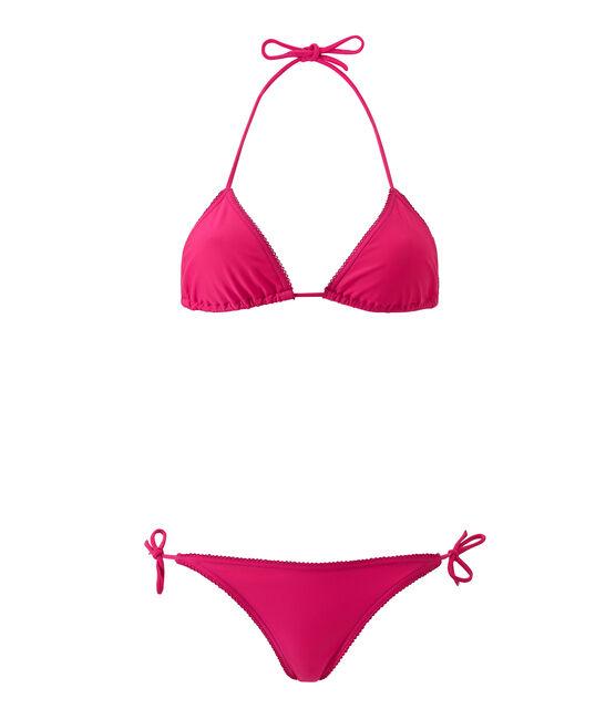 Women's plain bikini Petunia pink