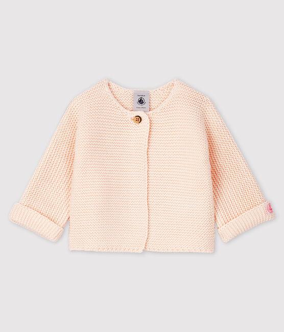 Babies' Cardigan Made Of 100% Cotton Knit Fleur pink