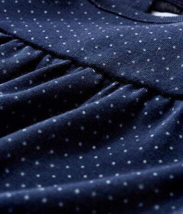 Baby Girls' Long-Sleeved Print Blouse Smoking blue / Marshmallow white