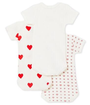 Baby girl's short sleeved body trio