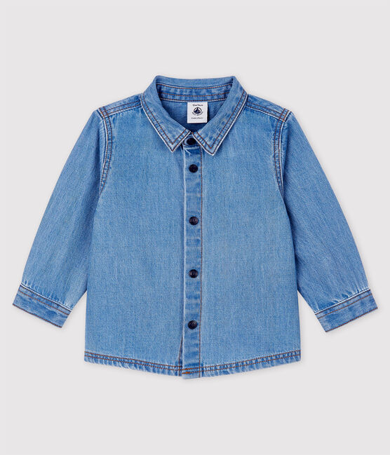 Baby Boys' Long-Sleeved Light Denim Shirt Denim clair blue