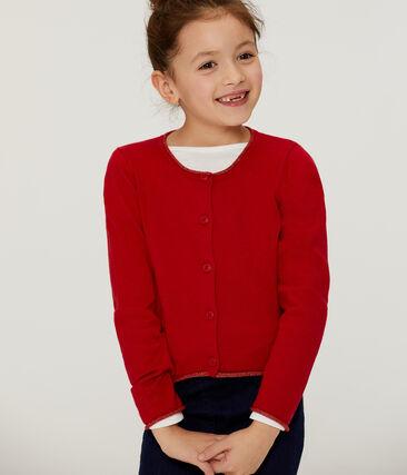 Girls' Knit Cardigan Terkuit red