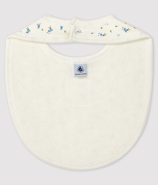 Ribbed Baby Bib Marshmallow white / Gris grey