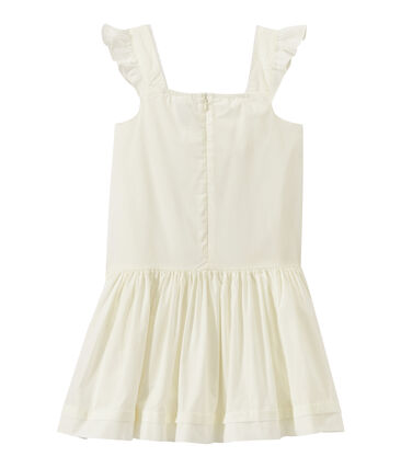 Girl's lace and cotton dress for special occasions