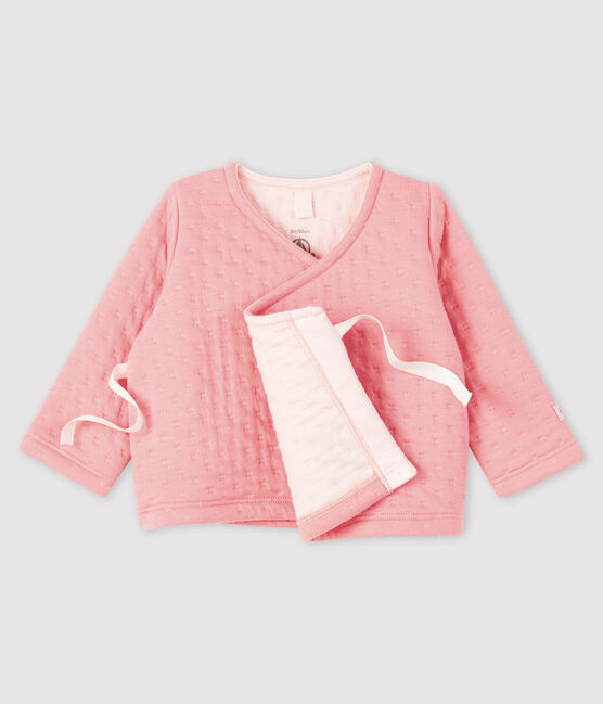 Babies' Tube Knit Cardigan Charme pink