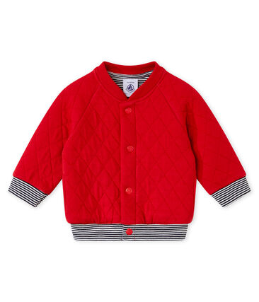 Baby boy's padded cotton tubic cardigan