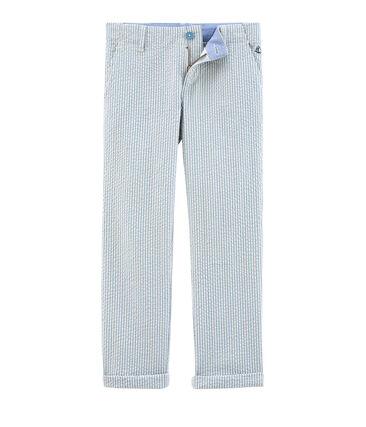 Boys' Trousers Fontaine blue / Marshmallow white
