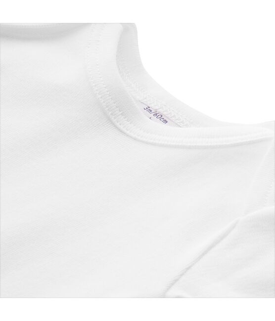 Unisex baby plain T-shirt Ecume white