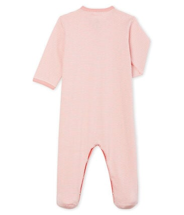 Baby Girls' Ribbed Sleepsuit Charme pink / Marshmallow white