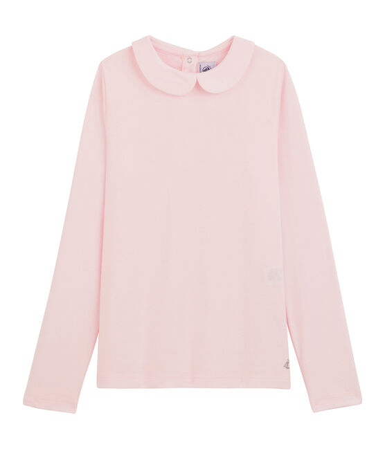 Girl's T-shirt with Peter Pan collar VIENNE