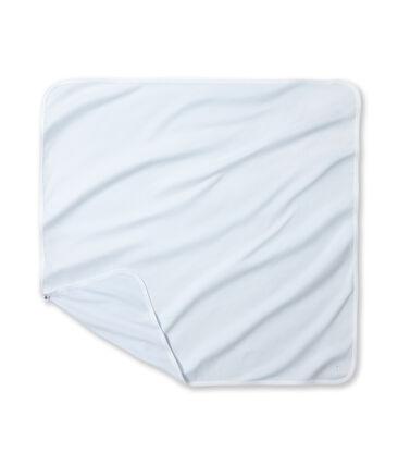 Baby's milleraies striped sheets Fraicheur blue / Ecume white