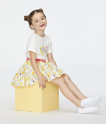 Girls' Skirt Marshmallow white / Multico white