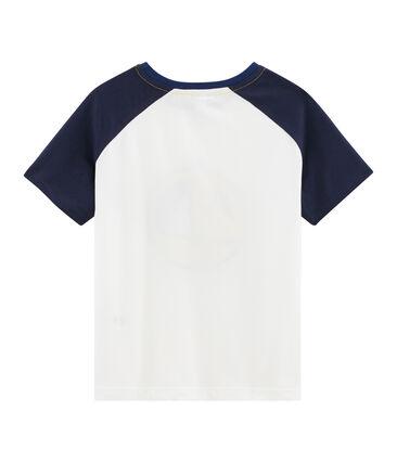 Boys' T-Shirt Marshmallow white / Smoking blue