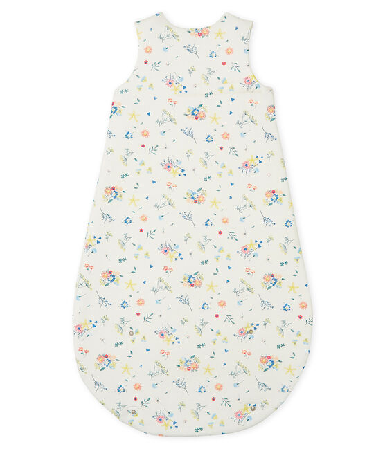 Baby Girls' Rib Knit Sleeping Bag Marshmallow white / Multico white