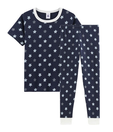 Boys Starry Ribbed Pyjamas Smoking blue / Multico white