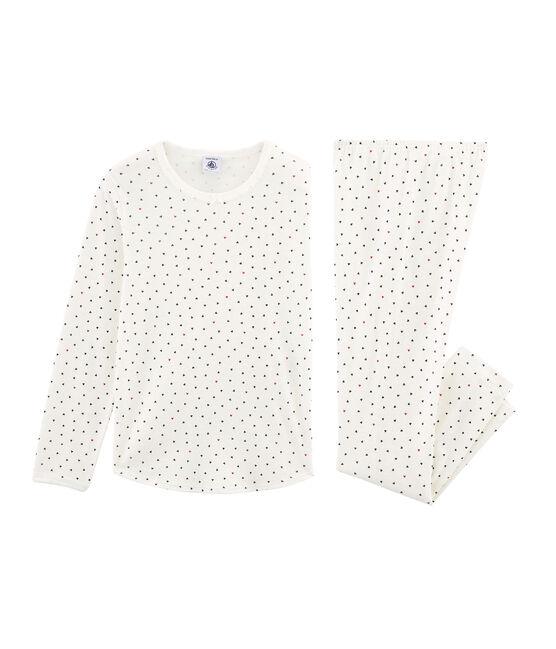 Girls' Pyjamas Marshmallow white / Multico white