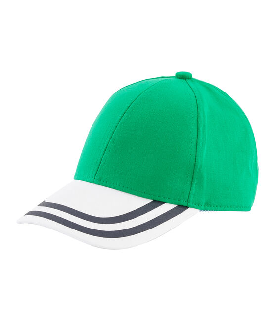 Twill cap for boys Prado green / Marshmallow white