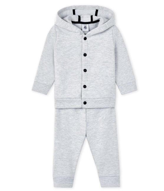 Baby sweat shirt and jogging set Poussiere Chine grey