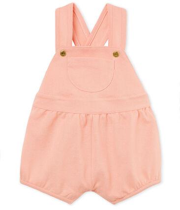 Baby girls' piqué short dungarees