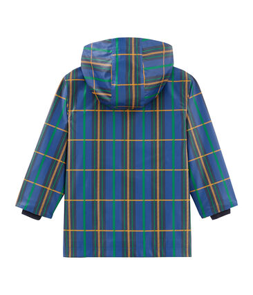Unisex Waxed Children's Checked Coat