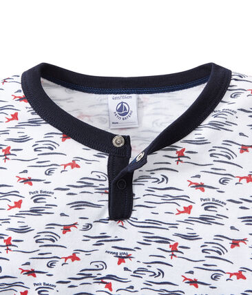 Boy's pyjamas with Tunisian collar
