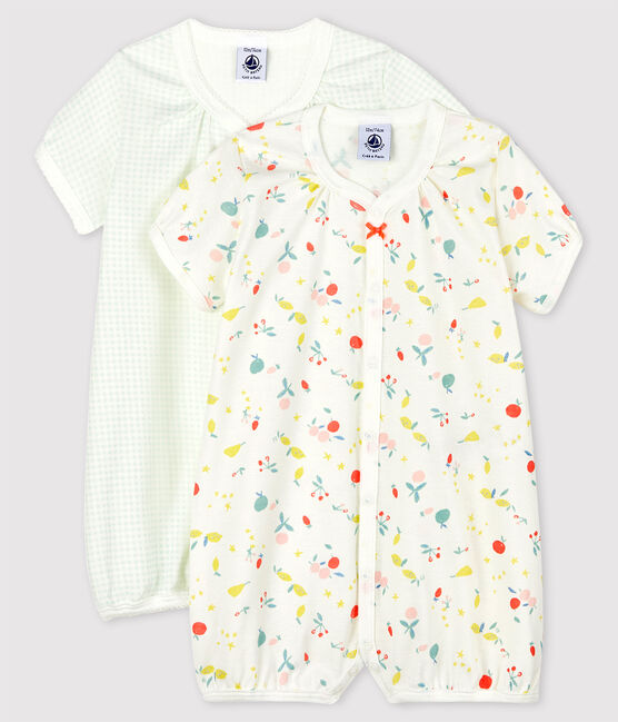 Baby Girls' Organic Cotton Playsuit - 2-Pack . set