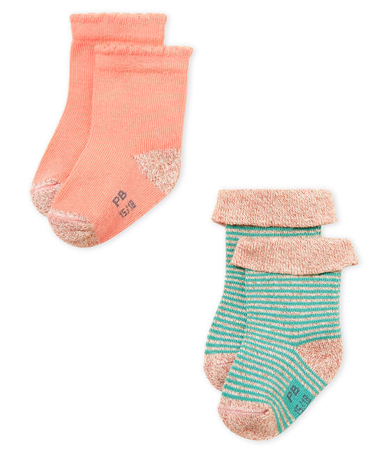 Baby girls' socks - pack of 2 . set