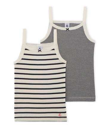 Girls' strap vest - Set of 2