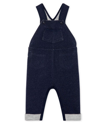 Unisex Baby's Long Denim Look Dungarees Smoking Cn blue