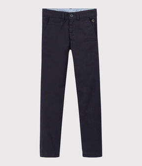 Boys' Gabardine Trousers Smoking blue