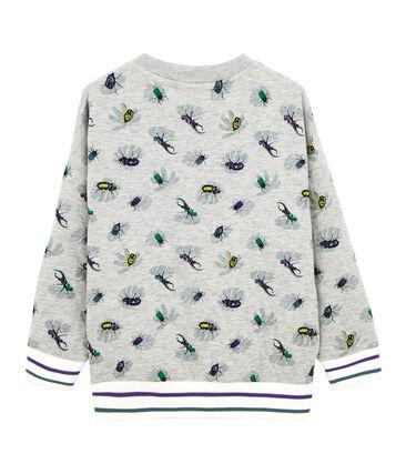Boy's Sweatshirt Beluga grey / Multico white