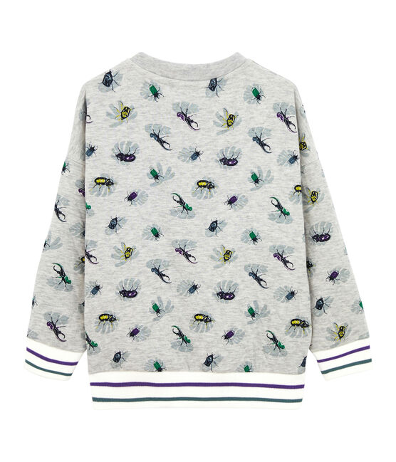 Boy's Sweatshirt Beluga grey / Multico white