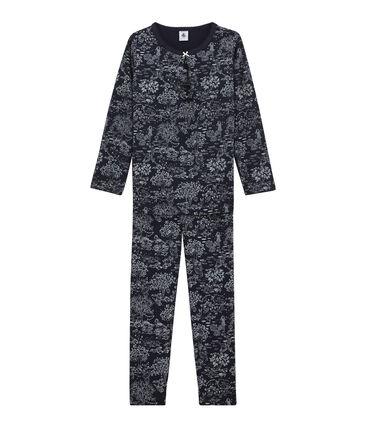 Little girl's pyjamas Smoking blue / Ecume white
