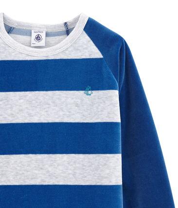Little boy's pyjamas Limoges blue / Poussiere grey