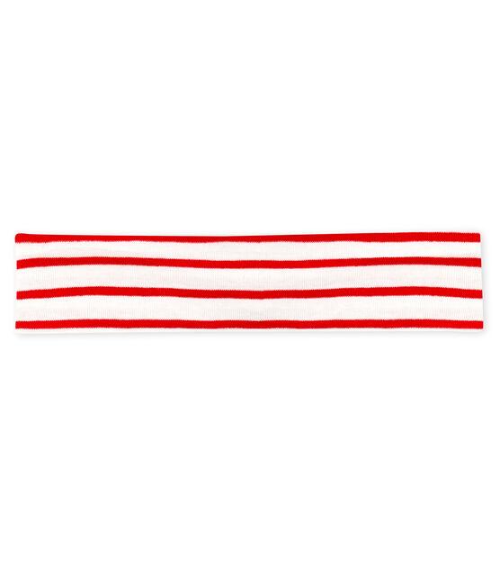 Baby Girls' Striped Headband Marshmallow white / Terkuit red