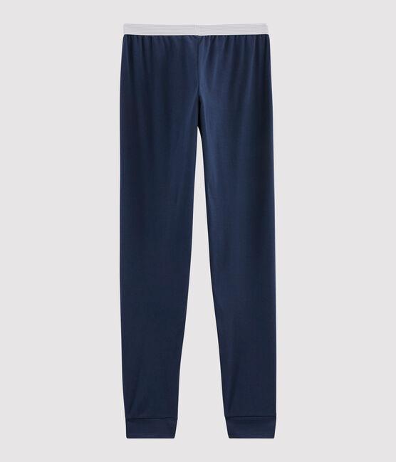 Men's Rib Knit Pyjama Bottoms Haddock blue